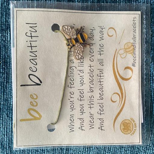 Yellow & Black Bee Bracelet & Pome