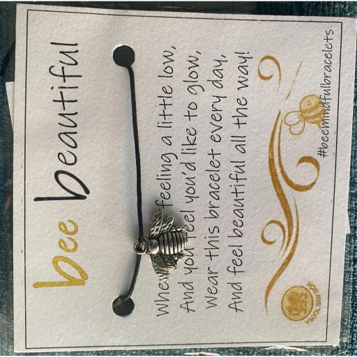 Silver Bee Bracelet & Poem